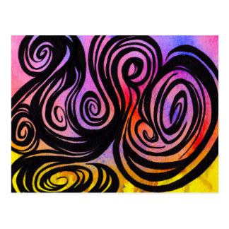 Swirls on Color by Mark Bray Oct 29 2014 Postcard