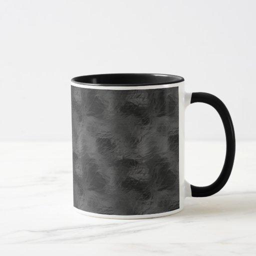 Swirls on Frosted Glass: Basic Black Mug