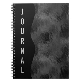 Swirls on Frosted Glass: Basic Black Notebook