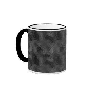 Swirls on Frosted Glass: Basic Black Ringer Mug