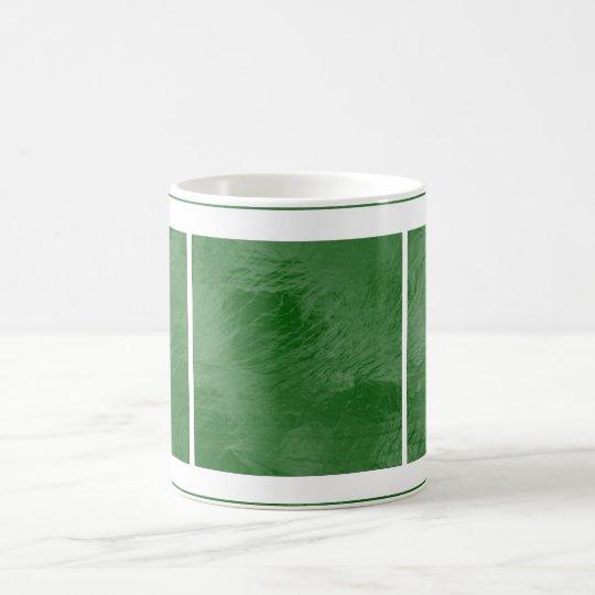 Swirls on Frosted Glass: Emerald Green Coffee Mug