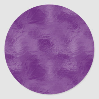 Swirls on Frosted Glass: Majestic Purple Classic Round Sticker