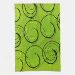 Swirls On Green Hand Towel