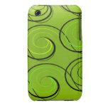 Swirls On Green iPhone 3 Case-Mate Case