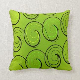 Swirls On Green Pillows