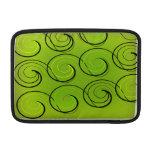 Swirls On Green Sleeve For MacBook Air