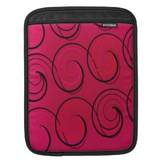 Swirls on Magenta Sleeves For iPads