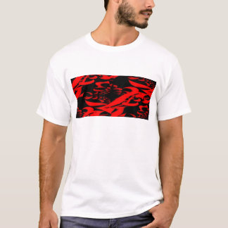 SWIRLS OR RED AND BLACK T-Shirt