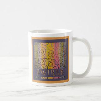 Swirls original painting mug