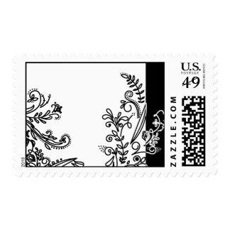 Swirls & Paisley Black Spine Postage Stamp