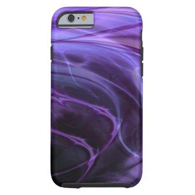 Swirls Purple Tough iPhone 6 Case