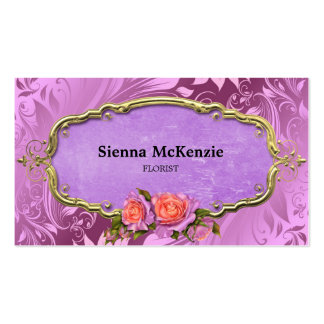 Swirls Roses Business Card Template