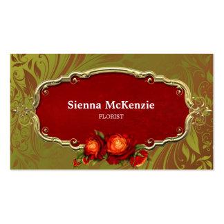 Swirls Roses Business Card