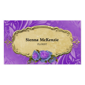 Swirls Roses Business Cards