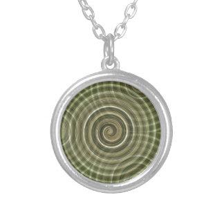 Swirls Round Pendant Necklace