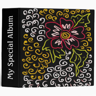 Swirls &Single Flower Digital Art Binder