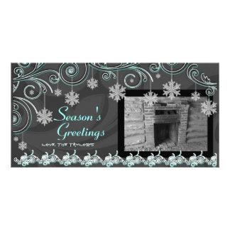 Swirls & Snowflakes Card