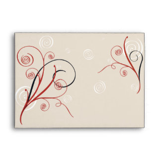 Swirls & Spirals Elegant Wedding Envelope