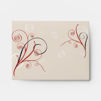 Swirls & Spirals Elegant Wedding Envelopes
