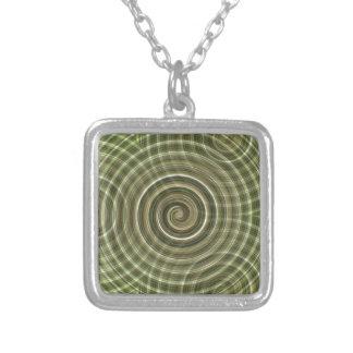 Swirls Square Pendant Necklace