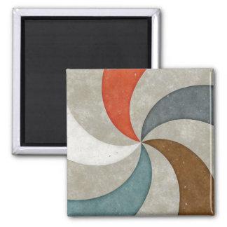 Swirls stamped on concrete magnet