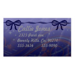 Swirls Stars and Bows Set Double-Sided Standard Business Cards (Pack Of 100)