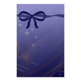 Swirls Stars and Bows Set Stationery
