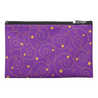 Swirls stars purple travel accessories bags