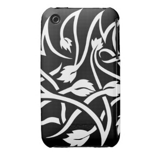 Swirls Tattoo white iPhone 3 3GS Barely There Case iPhone 3 Cases