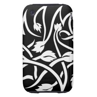 Swirls Tattoo white iPhone 3 3GS Tough Case Tough iPhone 3 Case