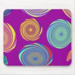 Swirls to circles Unique mousepad designs