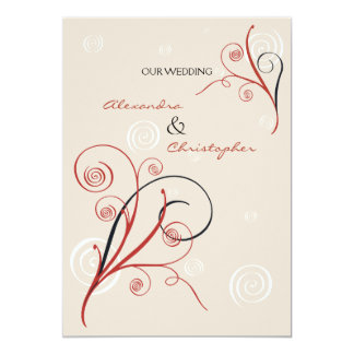 Swirls Wedding Invitation Announcement