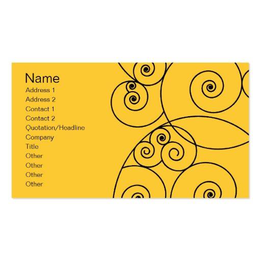 Swirls - Yellow Business Card
