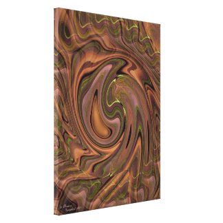 Swirly abstract art Stretched Canvas Print