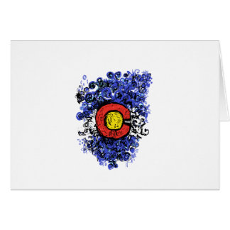 Swirly Abstract Colorado Flag Card