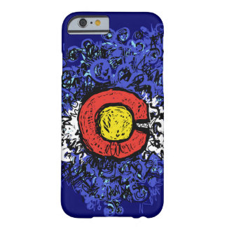 Swirly Abstract Colorado Flag Barely There iPhone 6 Case