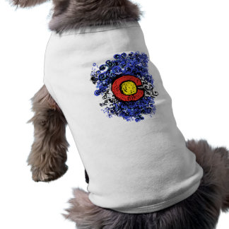 Swirly Abstract Colorado Flag Pet Clothes