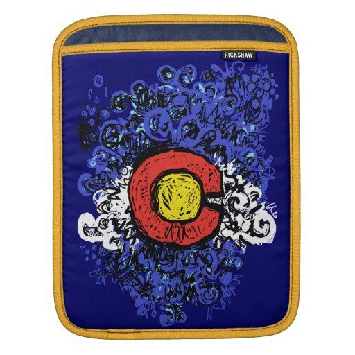 Swirly Abstract Colorado Flag ipad Case iPad Sleeves