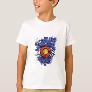 Swirly Abstract Colorado Flag T-Shirt