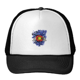 Swirly Abstract Colorado Flag Trucker Hat