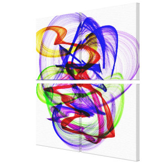 Swirly abstract colors canvas print