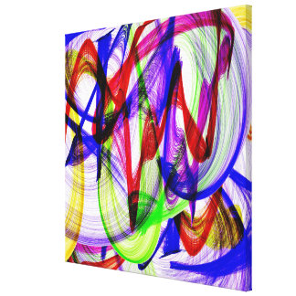 Swirly abstract colors gallery wrapped canvas