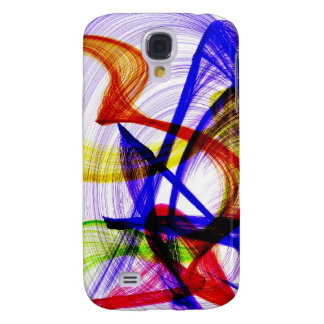 Swirly abstract colors samsung galaxy s4 cover