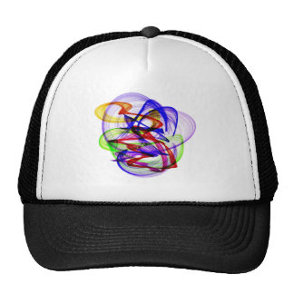Swirly abstract colors trucker hat