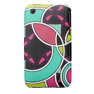 Swirly Afterdark Pop Neon Black iPhone 3/3GS case