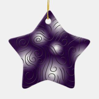 swirly and purple ceramic ornament