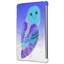 Swirly Barn Owl - Choose Your Color! Case For iPad Air