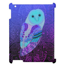 Swirly Barn Owl Cover For The iPad