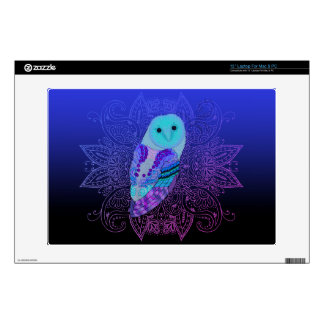"""Swirly Barn Owl Decal For 13"""" Laptop"""