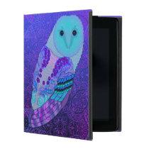 Swirly Barn Owl iPad Case